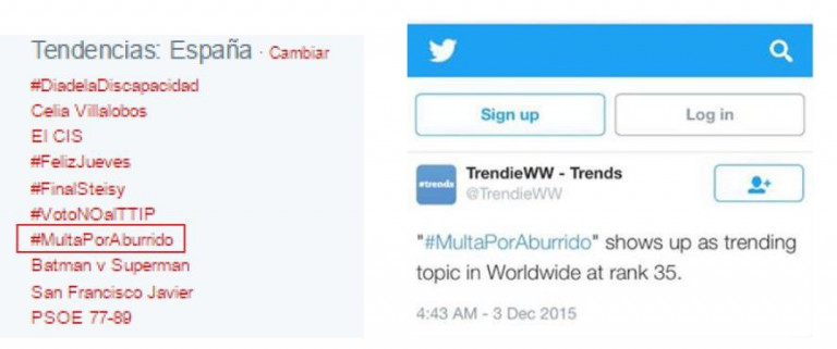 #MULTAPORABURRIDO trending topic
